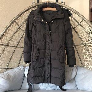 J Crew Wintress puffer coat - Black